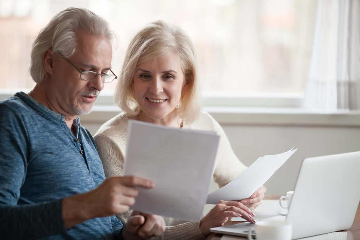 elderly discussing retirement planning