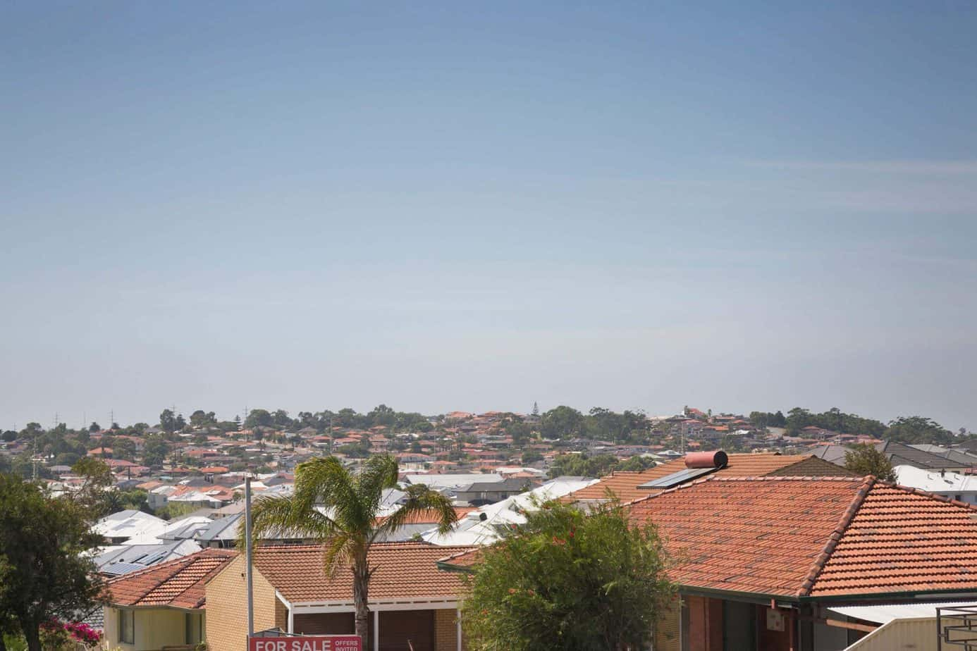 roof tops of a suburb in Western Australia