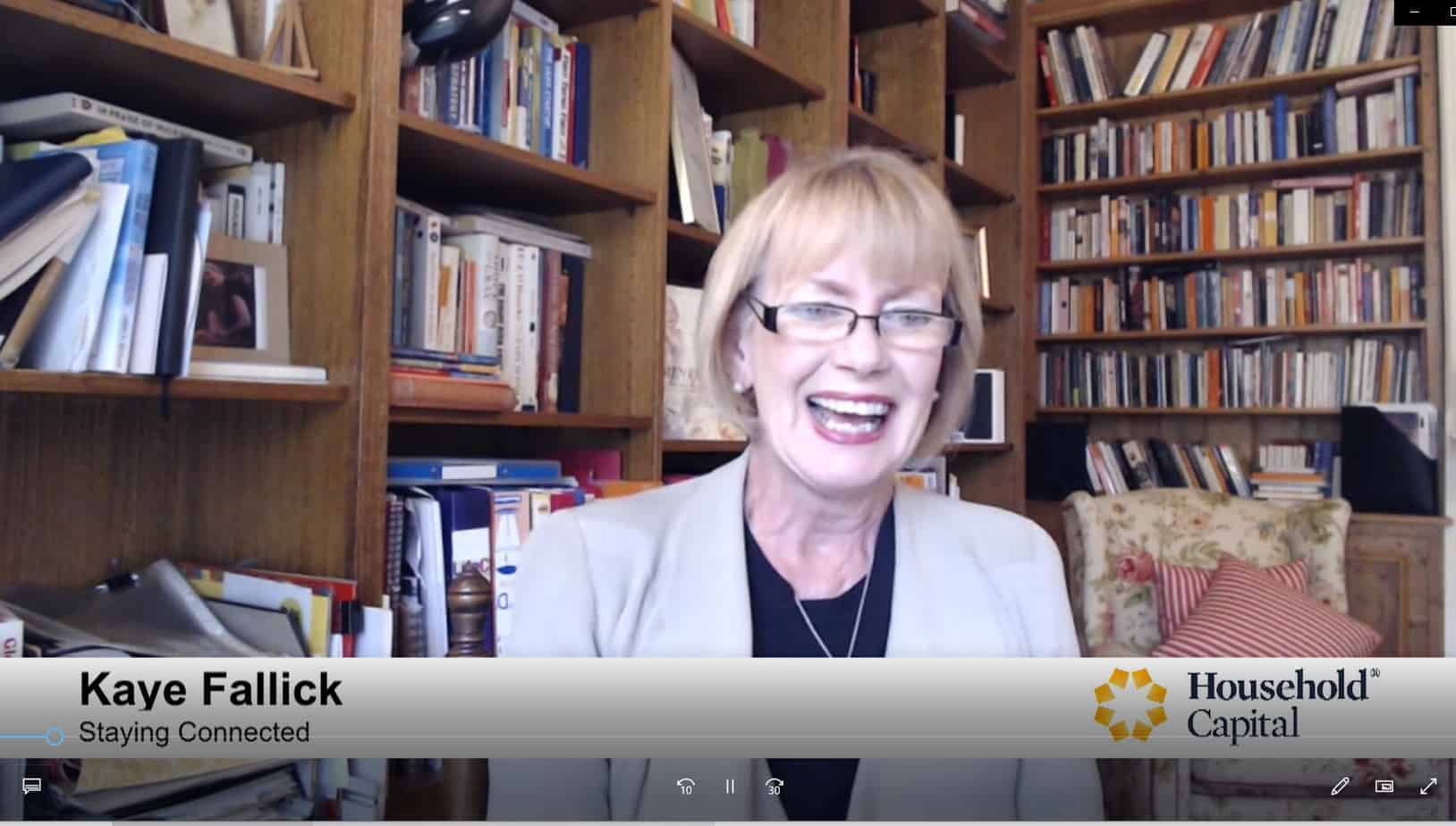 Kaye Fallick – CEO Staying connected