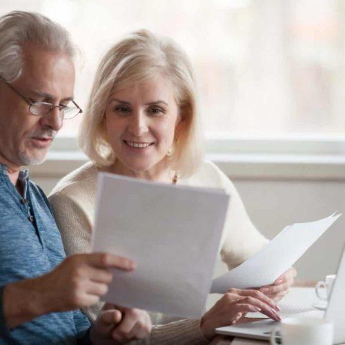 elderly discussing retirement planning